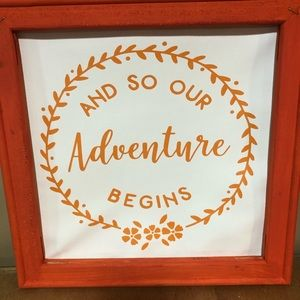 "12""x12"" handmade canvas sign"